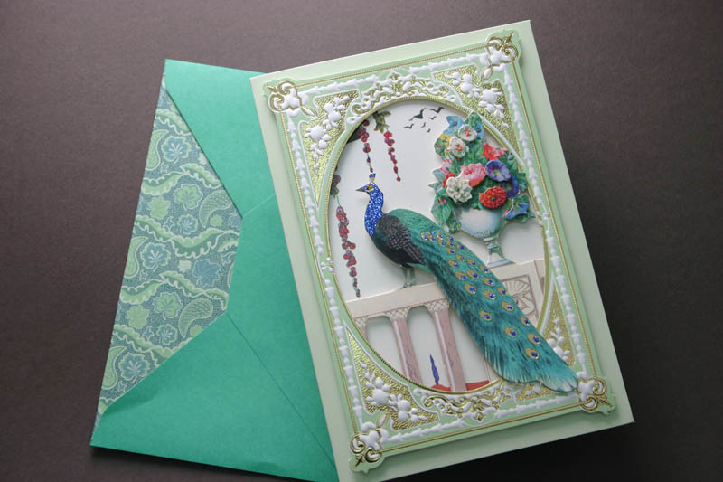 VINTAGE STYLE PEACOCK GREETING CARD