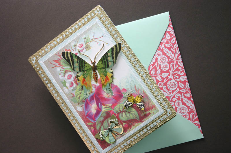 VINTAGE STYLE BUTTERFLY GREETING CARD