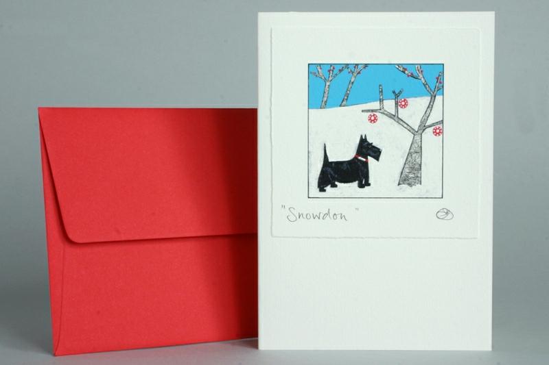 HIGHLAND TERRIER CHRISTMAS CARD