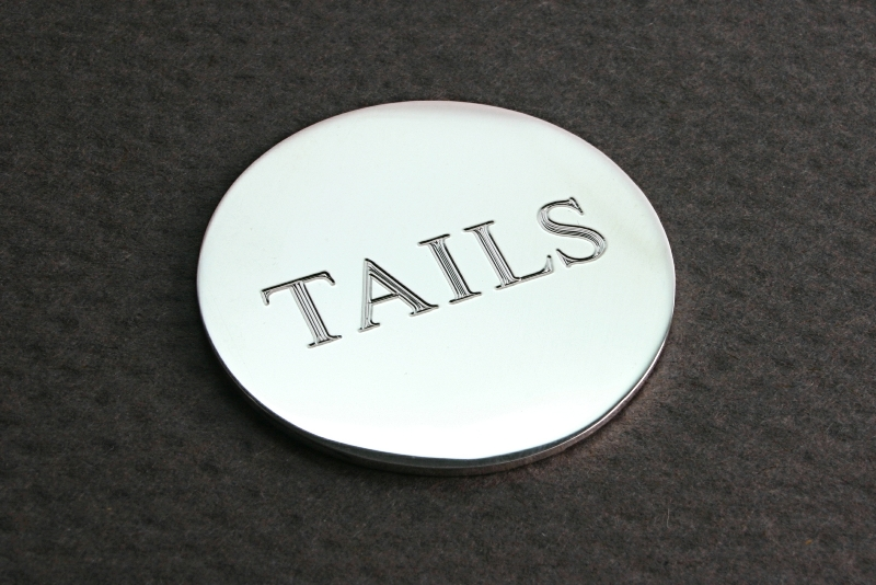 HEADS AND TAILS SILVER DISC, GIFTS FOR HIM
