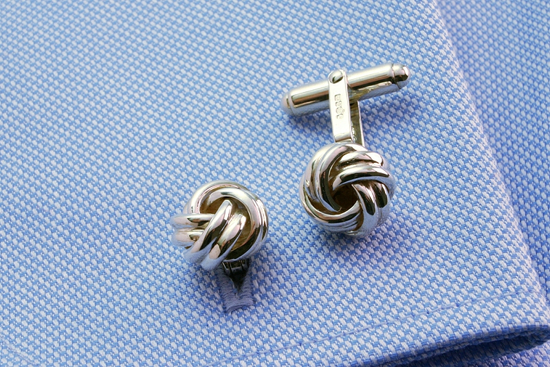 STERLING SILVER KNOT CUFFLINKS, GIFTS FOR DAD'S, BOYFIRENDS, HUSBANDS, BROTHERS