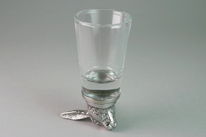 Hare Shot Glass On End