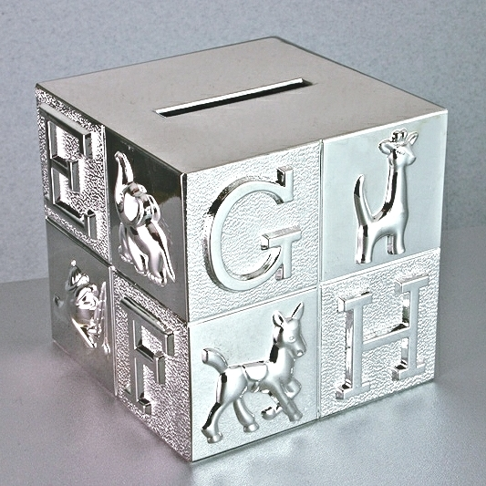 ABC Money Box Silver Plate