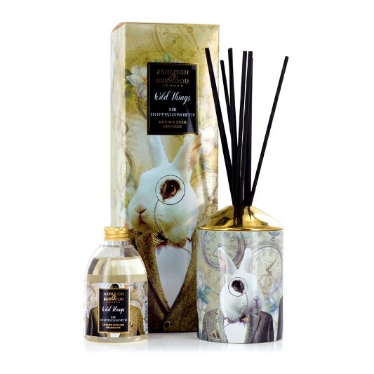 WILD THINGS REED DIFFUSER COGNAC LEATHER