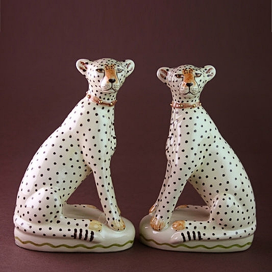 PAIR OF CHEETAHS