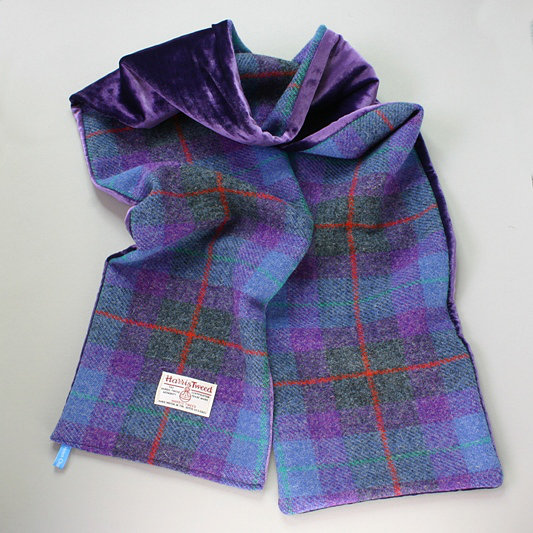 HARRIS TWEED SOFT VELVET SCARF