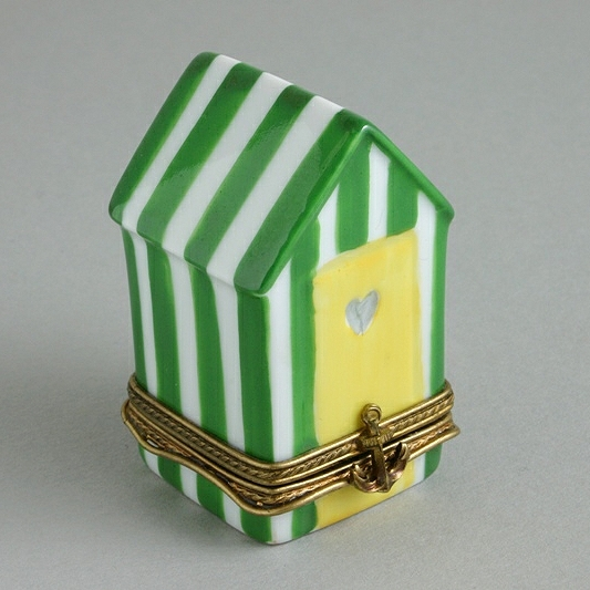 BEACH HUT LIMOGES BOX