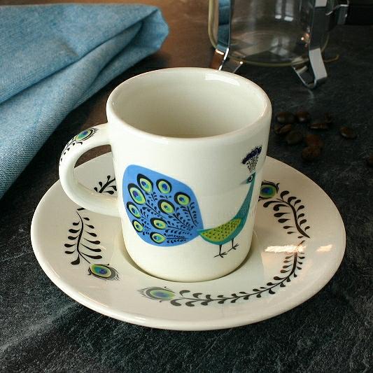 Peacock Espresso Cup & Saucer