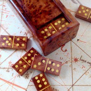 wooden dominoes game set