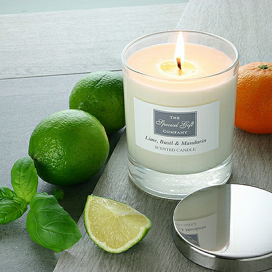Lime, Basil & Mandarin Candle, Scented Candle, Natural Candle, Gift For Home, Gift For Couple
