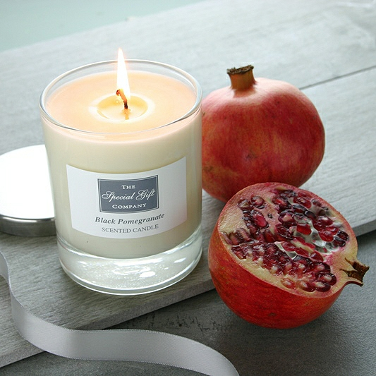 Black Pomegranate Scented Candle,