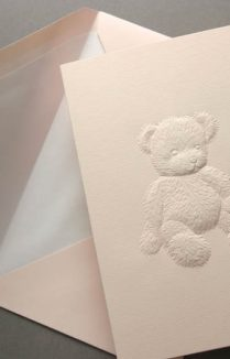 PINK TEDDY BEAR GREETING CARD