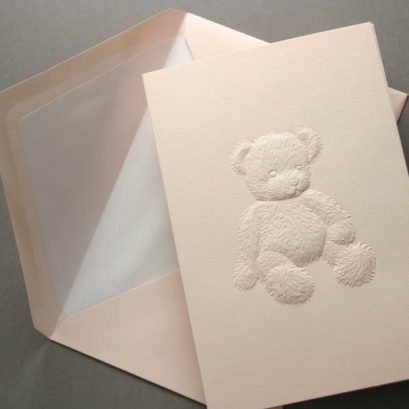 PINK TEDDY BEAR GREETING CARD
