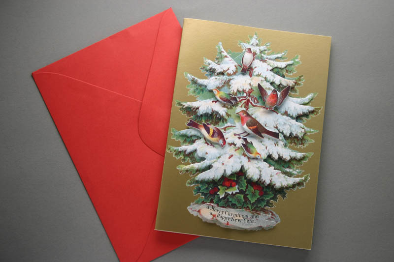 VICTORIAN STYLE CHRISTMAS CARD