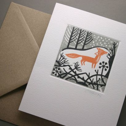 WINTER FOX GREETING CARD