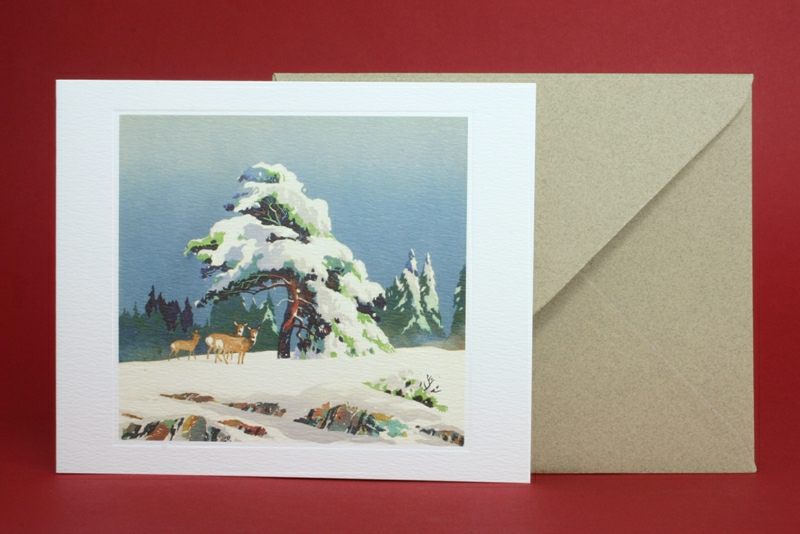 Deer In The Snow Greeting Card