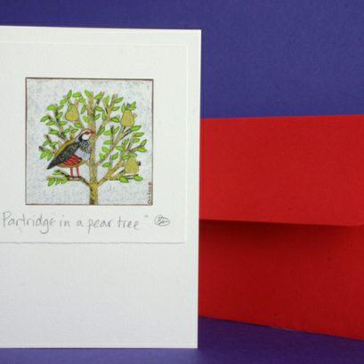 PARTRIDGE IN A PEAR TREE XMAS CARD