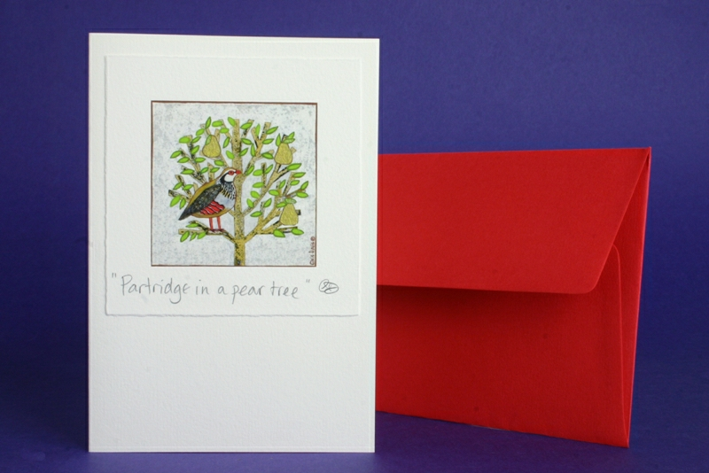 PARTRIDGE IN A PEAR TREE XMAS CARD