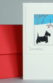 SCOTTIE DOG CHRISTMAS CARD