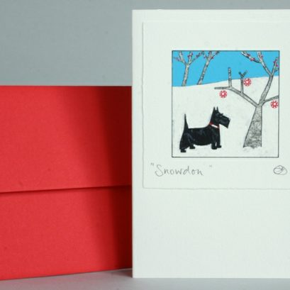SCOTTIE DOG CHRISTMAS CARD