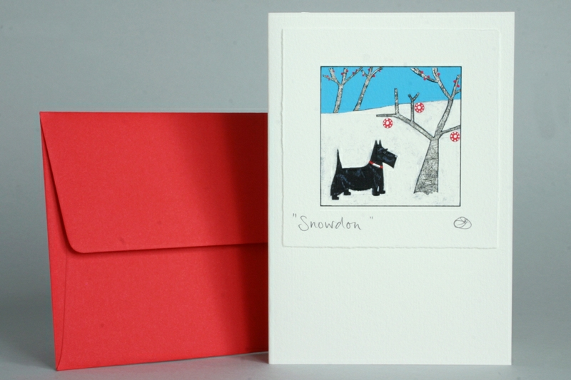 Scottie Dog Christmas Card The Special Gift Company