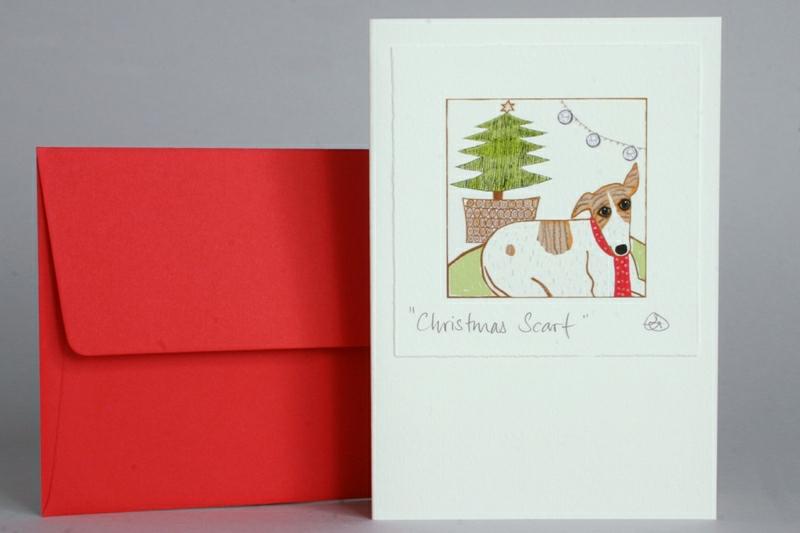 DOG & TREE CHRISTMAS CARD