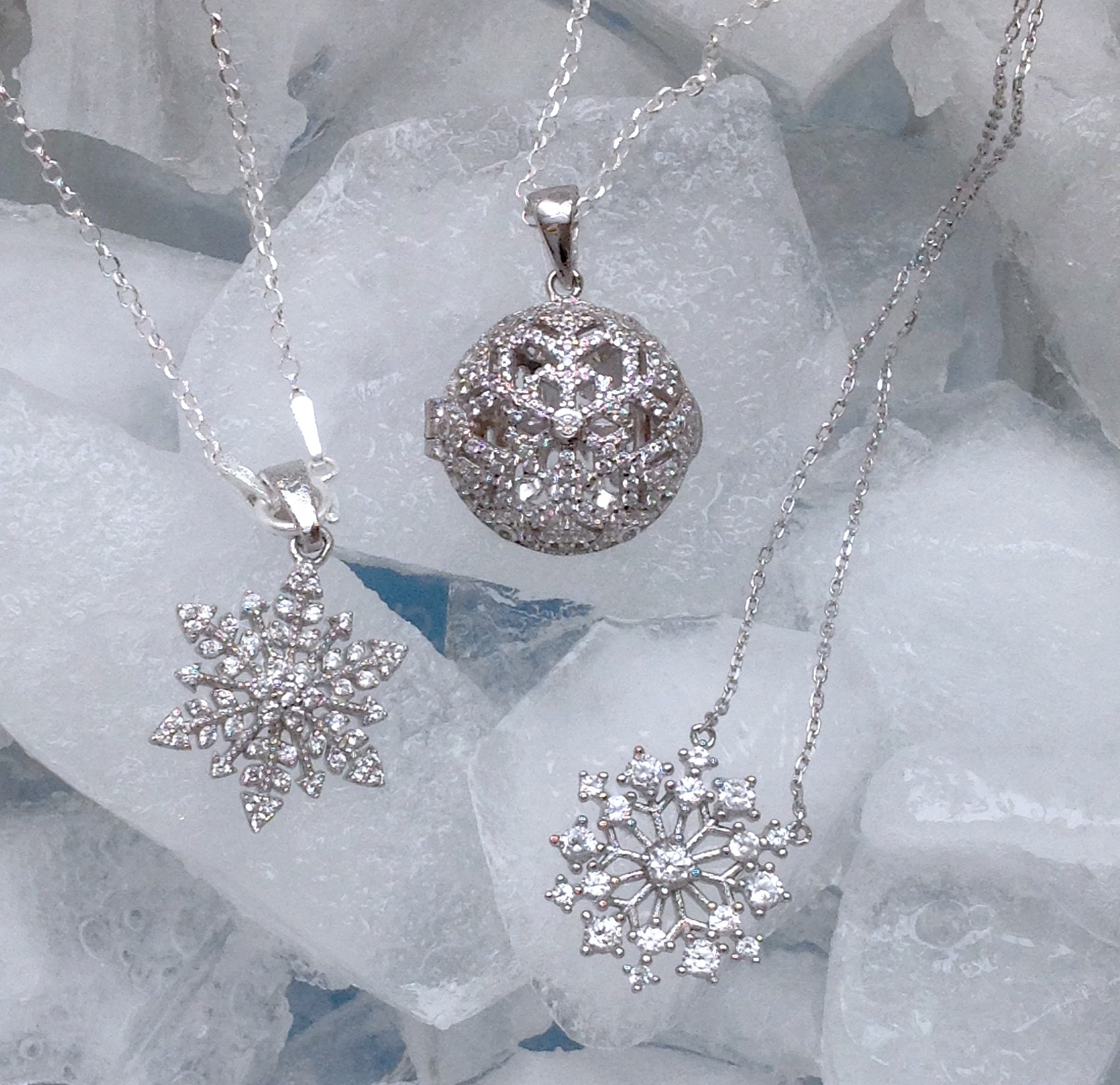 Silver Snowflake Pendants From The Special Gift Company