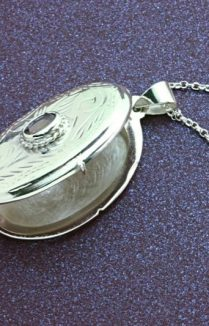 Silver Amethyst Locket