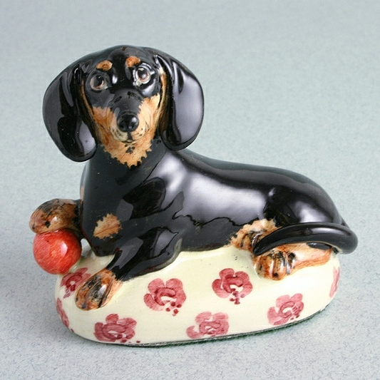 Dachshund China Figure By Miranda C Smith, Gift For Dog Lovers