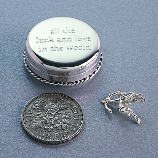 SILVER KEEPSAKE BOX, SIXPENCE BOX, GIFTS FOR HER, CHRISTENING,BIRTHDAYS, GIFTS FOR BRIDE, SPECIAL GIFTS