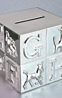 ABC MONEY BOX SILVER PLATE