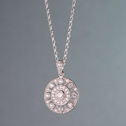 CIRCLE FLOWER PENDANT NECKLACE