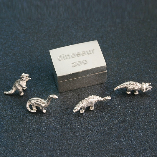 Dinosaur Box With Miniature Dinosaur, Special Gift