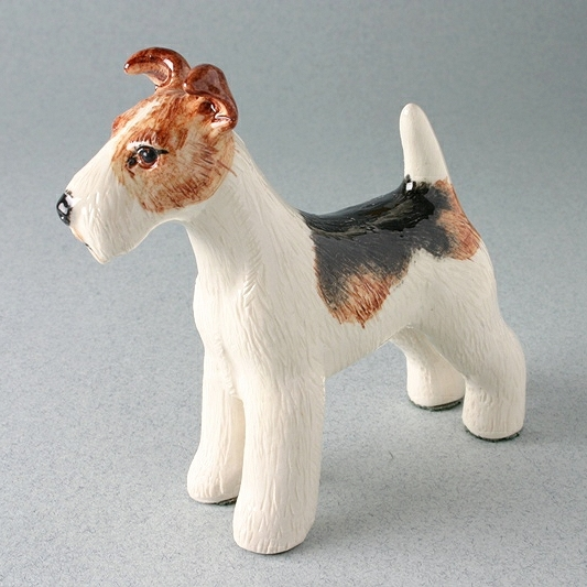 Fox Terrier Figure By Miranda C Smith