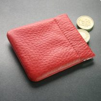 COIN HOLDER IN RED LEATHER