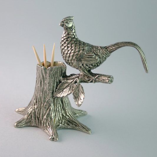Pheasant Cocktail Stick Holder