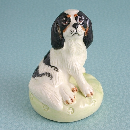 Tricolour King Charles Spaniel Figure By Miranda C Smith
