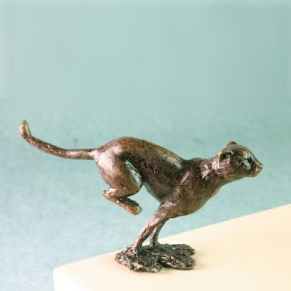 BRONZE CHEETAH FIGURE