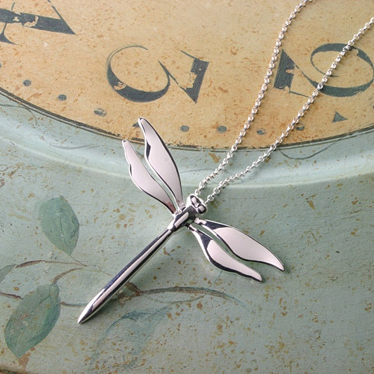 Dragonfly Necklace, Special Gift, Birthday Present