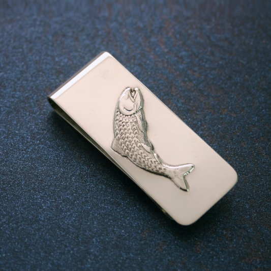 Sterling Silver Money Clip Fish Design
