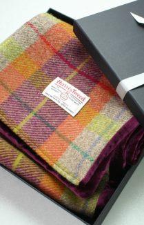 Harris Tweed And Velvet Scarf