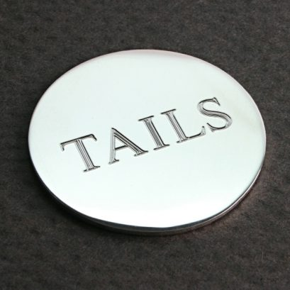 Heads & Tails Silver Coin/disc