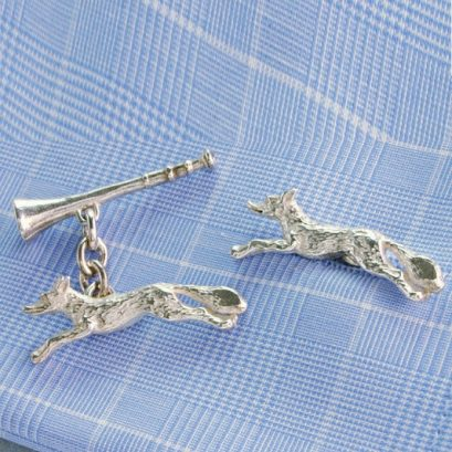 HUNTING CUFFLINKS FOX & HORN