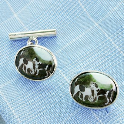 HUNTING DOG CUFFLINKS