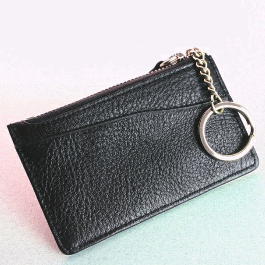 Leather Credit Card Key Case