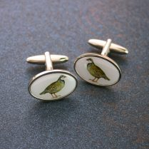 OVAL PARTRIDGE CUFFLINKS