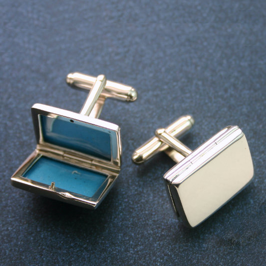 Picture Frame Cufflinks In Sterling Silver