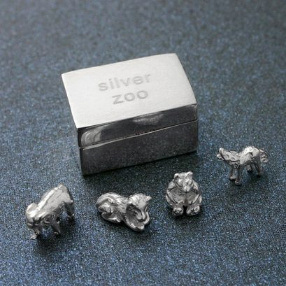 SILVER ANIMAL ZOO BOX