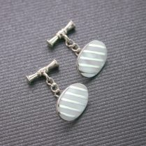 SILVER CUFFLINKS MOTHER OF PEARL