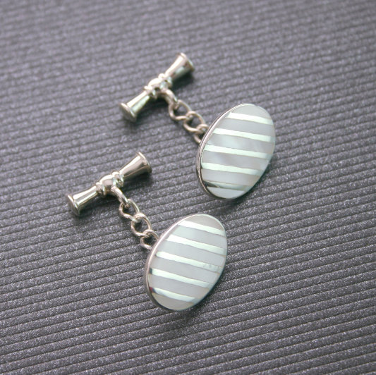 Silver Cufflinks Mother Of Pearl, Special Gift For Him, Best Man's Gift, Gift Groom